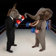 Republican vs. democrat Stock Illustration