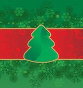 Christmas tree card background Stock Illustration