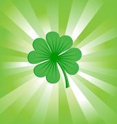 4 leaves luck clover green Stock Illustration