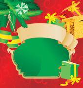 Christmas scroll vintage vector illustration Stock Illustration