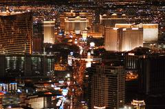 Las vegas strip from above Stock Photos