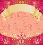 Christmas snowflakes frame vector Stock Illustration