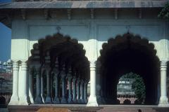columns and arcade - stock photo