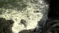 Stock Video Footage of Water Hitting Rocks