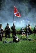 Stock Photo of confederates defend the flag