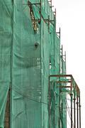 scaffold netting - stock photo