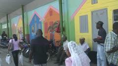 Suriname, street scene in Paramaribo Stock Footage