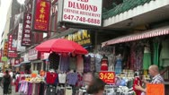 Stock Video Footage of Toronto Chinatown street