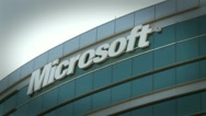 Stock Video Footage of Microsoft office building