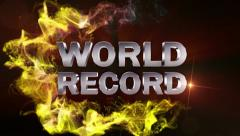 WORLD RECORD Text in Particle Red (Double Version) - HD1080 Stock Footage