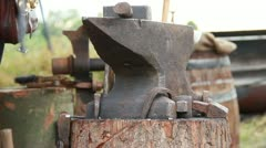 Medieval Footage Elements - Anvil and hammering Blacksmith - stock footage