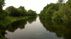 Gentle River on a Dull Day Stock Footage