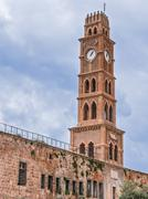 Ottoman landmark building - han el-umdan in akko, israel Stock Photos