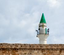 Stock Photo of minaret in acre