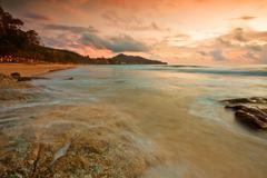 colorful sunset - stock photo