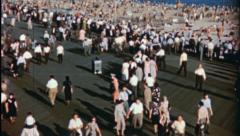 BRIGHTON BEACH Coney Island Beach NYC 1940s Vintage Retro Film Home Movie 3553 Stock Footage