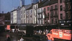 MEAT PACKING DISTRICT NYC 1940s (Vintage Film Retro Home Movie) 3560 Stock Footage