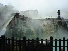 Famous Japanese hot spring village Kosatsu, Japan. Stock Photos