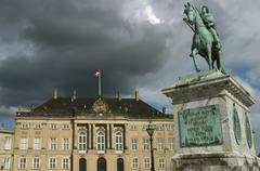 Amalienborg (the Royal Palace). Copenhagen. Denmark Stock Photos