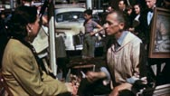 Painter Man Portrait GREENWICH Village NYC 1950s Vintage Film Home Movie 3569 Stock Footage