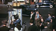 Artists Crowd See GREENWICH Village NYC Late 1950s Vintage Film Home Movie 3568 Stock Footage