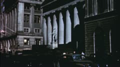WALL STREET Financial District New York 1940s Vintage Film Home Movie 3572 Stock Footage