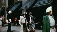 WINDOW SHOPPING Crowd Park Avenue NYC 1940s Vintage Retro Film Home Movie 3578 Stock Footage
