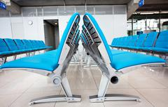 Abstract airport seats Stock Photos