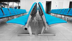 Abstract airport seats Stock Photos