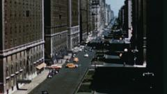 NYC PARK AVENUE New York Street Scene 1950s Vintage Film Retro Home Movie 3583 Stock Footage