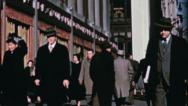 Stock Video Footage of NYC CROWD STREET Businessmen Late 1940s (Vintage Film Home Movie) 3585