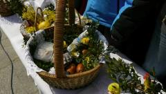 Polish Easter food blessing tradition Stock Footage