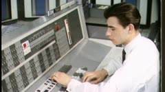 GEEK NERD Types IBM COMPUTER Office 1970 Vintage Film Industrial Footage 3593 - stock footage