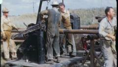 Men at Work WORKERS Oil Well Rig 1960s Vintage Industrial Film Home Movie 3601 - stock footage