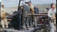 Men at Work WORKERS Oil Well Drill Rig 1960s Vintage Industrial Film Movie 3601 Stock Footage