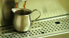 Pulling a shot of Espresso - stock footage