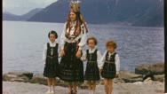 Stock Video Footage of MOTHER DAUGHTERS Swedish Norwegian Lapland 1950s Vintage Film Home Movie 3632