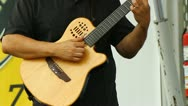 Man playing the guitar Stock Footage
