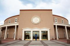 Stock Photo of New Mexico State House and Capitol Building in Santa Fe, NM