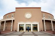 New Mexico State House and Capitol Building in Santa Fe, NM Stock Photos