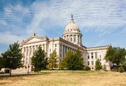 Stock Photo of Oklahoma State House and Capitol Building, Oklahoma City