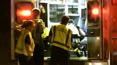 Ambulance load Stock Footage