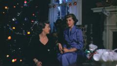 HIGH CLASS CHRISTMAS Women Mother Daughter 1940s Vintage Film Home Movie 3641 Stock Footage