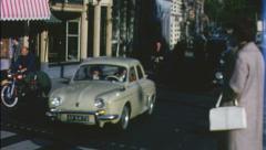 AMSTERDAM Street Scene Crowd TRAFFIC 1960s (Vintage Film Home Movie) 3644 Stock Footage