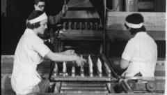 WORKING WOMEN Factory Production Line 1930s Vintage Film Home Movie 3645 - stock footage