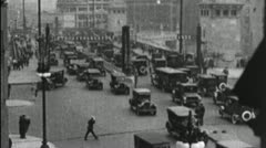 Stock Video Footage of CHICAGO Madison Street Bridge Cars City Retro 1920s Vintage Film Home Movie 3648