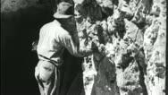 Stock Video Footage of LIGHTING DYNAMITE FUSE Mining Ore 1930 (Vintage Film Industrial Movie) 3651