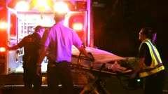 Ambulance load - stock footage