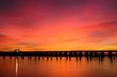 bridge over a river - stock photo
