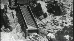 MINERS MINING Gold Mine ORE Vintage Film Industrial Home Movie Footage 3564 - stock footage